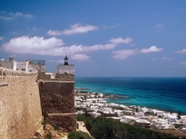 fortress and mansourah beach kelibia-tunisia