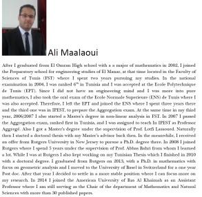 Ali Maalaoui Bio